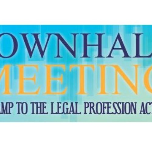 Town Hall Meeting on Revamp to the Legal Profession Act 1976