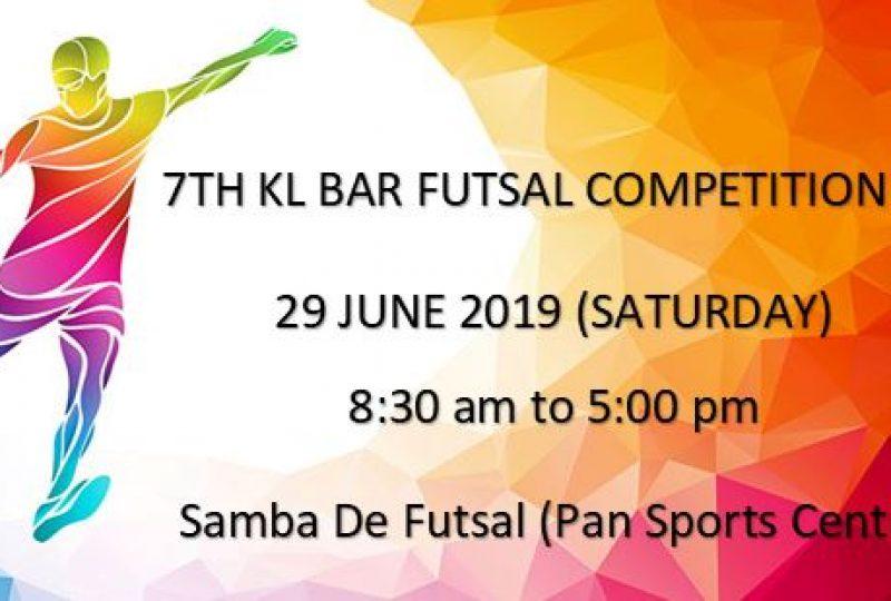 7TH KL BAR FUTSAL COMPETITION 2019