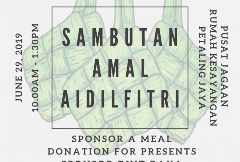 Sambutan Amal Aidilfitri pada 29 Jun 2019