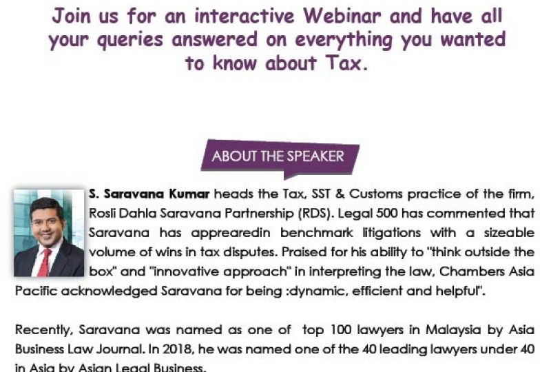 Q&A Session on Tax on 16 July 2020