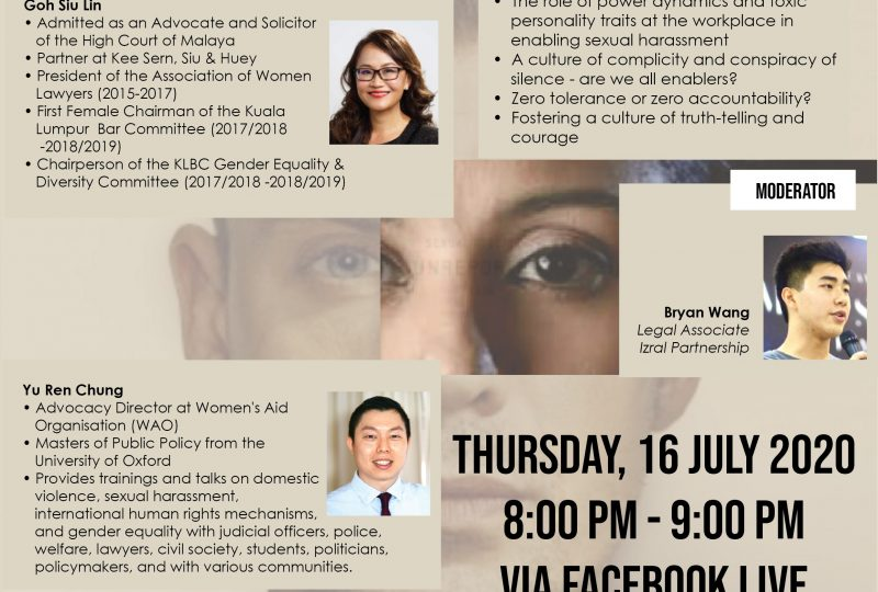 Webinar on Sexual Harassment In The Legal Profession – An Old Normal? on 16 July 2020