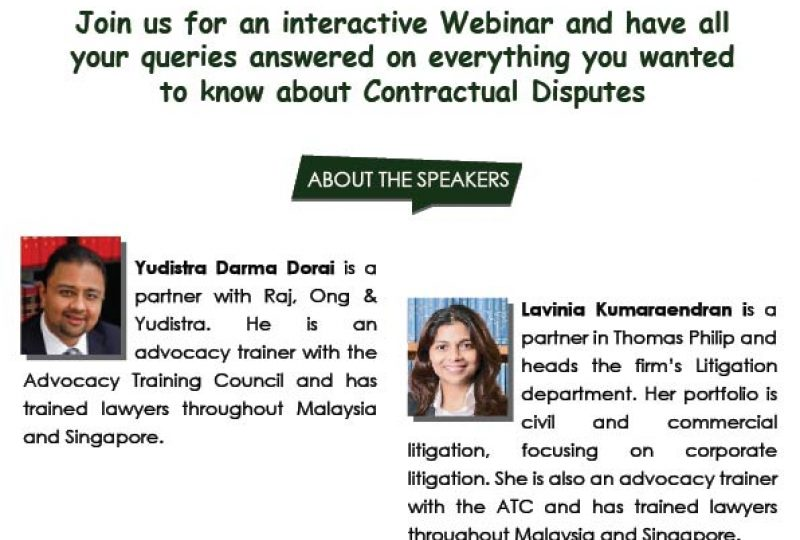Webinar on Q&A Session on Contractual Disputes on 4 August 2020