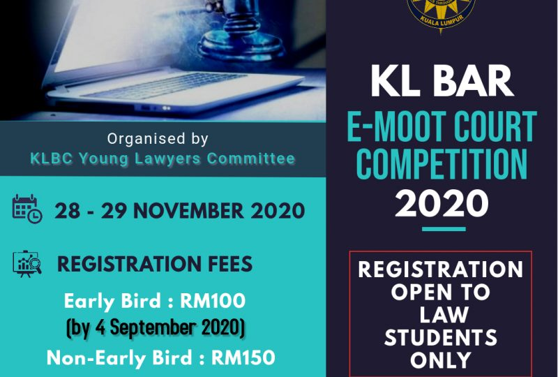 Request For Sponsorship   KL Bar E-Moot Court Competition 2020